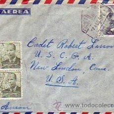 Sellos: FRANCO Y DE LA CIERVA EN CARTA CIRCULADA CORREO AEREO 1952 SANTA CRUZ TENERIFE (CANARIAS)-USA. MPM.. Lote 8759503