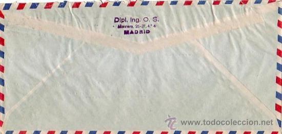 Sellos: AÑO SANTO COMPOSTELANO 3 PTS (EDIFIL 1131) Y OTROS EN CARTA CIRCULADA 1954 DE MADRID A NUEVA YORK. - Foto 2 - 24903878