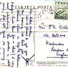 Sellos: DE LA CIERVA 2 PTAS EN TARJETA POSTAL EL COLOMERET CIRCULADA 1954 DE PALMA DE MALLORCA A LONDRES MPM. Lote 8772378
