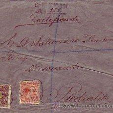 Sellos: CARTA CIRCULADA 1895 CORREO CERTIFICADO DE AVILA A PIEDRAHITA (AVILA). FRANQUEO PELON 75 CTS.. Lote 23004724