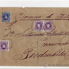 Sellos: CARTA CERTIFICADA 1903 SEGOVIA A PIEDRAHITA (AVILA). FRANQUEO ALFONSO XIII CADETE. AMBULANTE . Lote 23070194