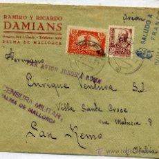 Sellos: SOBRE CON CENSURA MILITAR PALMA DE MALLORCA. Lote 26490405