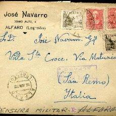 Sellos: SOBRE CON CENSURA MILITAR DE ALFARO, LOGROÑO. Lote 23267054
