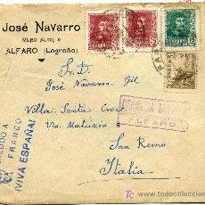 Sellos: SOBRE CON CENSURA MILITAR DE ALFARO, LOGROÑO. Lote 26490394