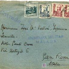 Sellos: SOBRE CON CENSURA MILITAR,MALAGA. Lote 26490401