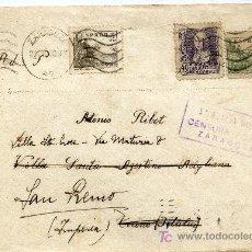 Sellos: SOBRE CON CENSURA POSTAL 5º REGION MILITAR ZARAGOZA. Lote 26490407