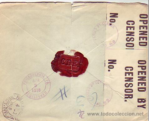 Sellos: ALFONSO XIII MEDALLON EN CARTA COMERCIAL (COMPAÑIA DENTAL ESPAÑOLA) CERTIFICADA 1918 MADRID-USA RARA - Foto 2 - 24963249