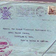 Sellos: EL CID EN CARTA CIRCULADA 1949 DE BILBAO A USA CON MATASELLOS RODILLO (AHORRAD LA CAJA POSTAL.) MPM. Lote 9126037