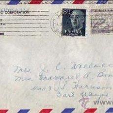 Sellos: PAREJA DE LA CIERVA 4 PTAS Y GENERAL FRANCO EN CARTA COMERCIAL CIRCULADA 1955 DE BARCELONA A USA MPM. Lote 9136302