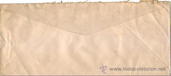 Sellos: GENERAL FRANCO EN CARTA COMERCIAL (SUDENTA) CIRCULADA 1945 BARCELONA-USA. MARCA TINTA POR AVION. MPM - Foto 2 - 9136405