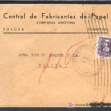 Sellos - .312 SOBRE SAN SEBASTIAN A TOLOSA (GUIPUZCOA), FRANQUEO 858, CENSURA S-42-44 LETRA O - 11527355