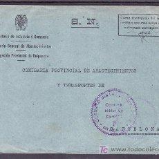 Sellos: .313 SOBRE SAN SEBASTIAN A BARCELONA, FRANQUICIA DEL GOBIERNO CIVIL DE GUIPUZCOA, CENSURA S-42-45 +. Lote 11258904