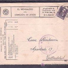 Sellos: .356 SOBRE BILBAO A VALLADOLID, FRANQUEO 858, CENSURA B-61-34 (LUNES 1) EN VIOLETA . Lote 10327568