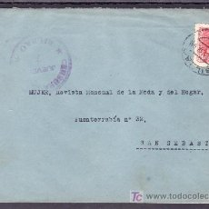 Sellos - .358 SOBRE BILBAO A SAN SEBASTIAN, FRANQUEO 857, CENSURA B-61-43 (JUEVES 7) EN VIOLETA, - 11826848