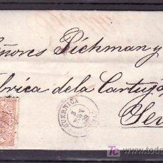 Sellos: .361 CARTA GUERNICA A SEVILLA, FRANQUEO 96 Y FECHADOR TIPO II MUY RARO. Lote 11232029