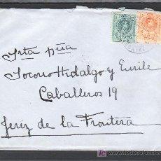 Sellos: .362 SOBRE PORTUGALETE A JEREZ DE LA FRONTERA, FRANQUEO 268 Y 271 MATASELLO FECHADOR TORT 661, . Lote 11826846
