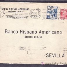 Sellos: .377 SOBRE PAMPLONA A SEVILLA, FRANQUEO 687 Y CRUZADA CONTRA FRIO 2, AL DORSO RODILLO SEVILLA 1º R +. Lote 11626998
