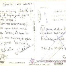 Sellos: TARJETA CIRCULADA DESDE BLANES (GIRONA) A FRANCIA Y DEVUELTA POR DESCONOCIDO, VER MARCAS. Lote 9333073