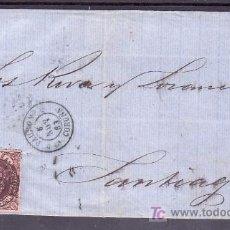 Sellos: .426 ENVOLTURA PADRON A SANTIAGO, FRANQUEO 58 Y MATASELLO FECHADOR TIPO II,. Lote 10406629
