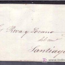 Sellos: .427 CARTA PADRON A SANTIAGO, FRANQUEO 58A Y MATASELLO FECHADOR TIPO II, . Lote 11542430