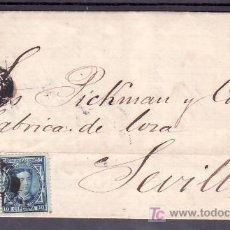 Sellos: .448 CARTA PONTEVEDRA A SEVILLA, FRANQUEO 175 Y 183, MATº PONTEVEDRA TIPO II DE 1857 SIN GRUPO+. Lote 11584830