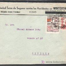 Sellos: .463 FRONTAL VIGO A SEVILLA, FRANQUEO 823 Y LOCAL G244 MATASELLADO ERROR FECHADOR (18 MAR. 36) . Lote 10780221
