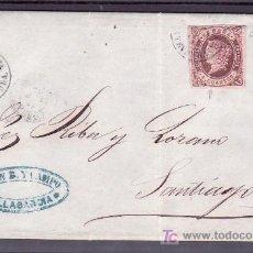 Sellos: .470 CARTA VILLAGARCIA A SANTIAGO, FRANQUEO 58A, MATASELLO FECHADOR TIPO II, . Lote 10780228