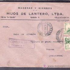 Sellos: .473 SOBRE VILLAGARCIA A TOLOSA, FRANQUEO ESTADO ESPAÑOL, CENSURA V-58-3 EN VIOLETA (TIPO SIMILAR +. Lote 10780274