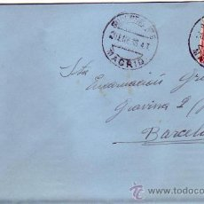 Sellos: REPUBLICA ESPAÑOLA CARTA CIRCULADA 1936 DE MADRID A BARCELONA. RODILLO MUDO DE LLEGADA. MPM.. Lote 9661137