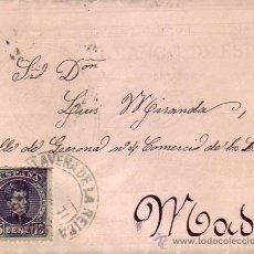 Sellos: RARA CARTA 1901 CONFECCIONADA PAPEL (BANCO DE ESPAÑA PAGARA AL PORTADOR LA CANTIDAD DE 25 PESETAS).. Lote 25351501