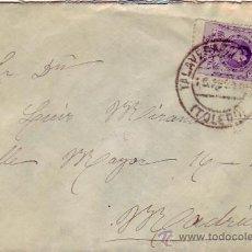Sellos: CARTA CIRCULADA 1915 DE TALAVERA DE LA REINA (TOLEDO) A MADRID. RARO MATASELLOS DE LLEGADA. MPM.. Lote 9690820