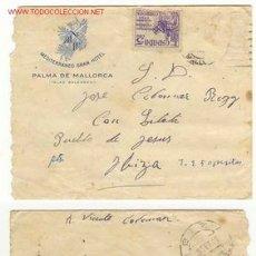 Sellos: SOBRE CIRCULADO DE P. MALLORCA A IBIZA 1949. Lote 16270477