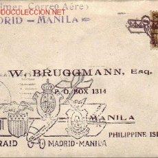 Sellos: PRIMER VUELO MADRID-MANILA 1926 POR GALLARZA, LORIGA Y ESTEVE. BONITA Y RARA MARCA AEREA GOMIS NUM 2. Lote 23209783