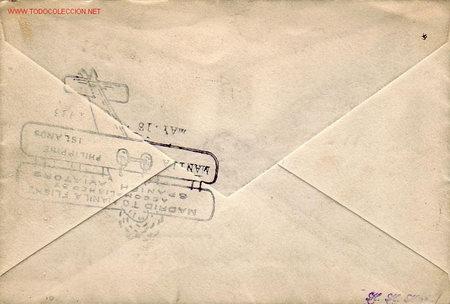 Sellos: PRIMER VUELO MADRID-MANILA 1926 POR GALLARZA, LORIGA Y ESTEVE. BONITA Y RARA MARCA AEREA GOMIS NUM 2 - Foto 2 - 23209783