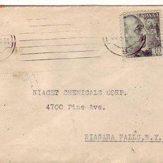 Sellos: MATASELLOS MUDO EN CARTA CIRCULADA 1944 BARCELONA-NIAGARA FALLS (USA). DOBLE CENSURA. RARA ASI. MPM.. Lote 2945525