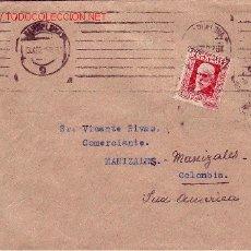 Sellos: RARO MATASELLOS MUDO EN CARTA CIRCULADA 1932 DE BARCELONA A MANIZALES (COLOMBIA). LLEGADA. MPM.. Lote 11511253