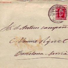 Sellos: CARTA CIRCULADA 1933 DEL MONASTERIO DE MONTSERRAT A BARCELONA-SARRIA . Lote 25033640
