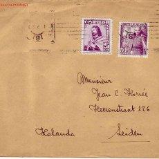 Sellos: FERNANDO III EL SANTO GENERAL FRANCO CARTA COMERCIAL ANDRES GRIFOL FOIX 1948 BARCELONA-HOLANDA. MPM. Lote 2991879