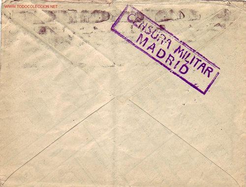 Sellos: EL CID E ISABEL LA CATOLICA EN CARTA CIRCULADA 28/7/¿1938? DE MADRID A ESTADOS UNIDOS. CENSURA. MPM. - Foto 2 - 11827312