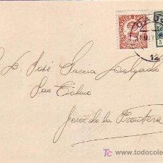 Sellos: VAPOR EXCELLO 1937 BONITA Y RARA TARJETA CIRCULADA DE CADIZ A JEREZ DE LA FRONTERA.. Lote 24982076