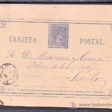 Sellos: .591 TARJETA ENTERO POSTAL 8 SAN FERNANDO (CADIZ) A SEVILLA VARIEDAD (SIN PUNTO EN SR.) MATASELLO +. Lote 10780493