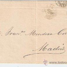 Sellos: ENVUELTA DE CARTA SANTANDER - MADRID. Lote 27082241