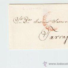 Sellos: ENVUELTA DE CARTA TARRAGONA 1845. Lote 27567636