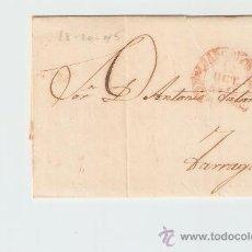 Sellos: ENVUELTA DE CARTA TARRAGONA 1845. Lote 27567664