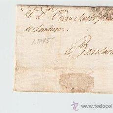 Sellos: ENVUELTA DE CARTA BARCELONA 1815. Lote 27435519