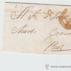 Sellos: ENVUELTA DE CARTA REUS 1845. Lote 27435520