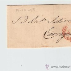 Sellos: ENVUELTA DE CARTA TARRAGONA 1845. Lote 27409814