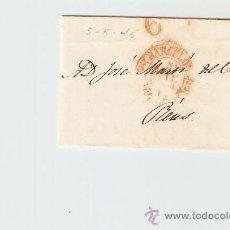 Sellos: ENVUELTA DE CARTA REUS 1845. Lote 27435517