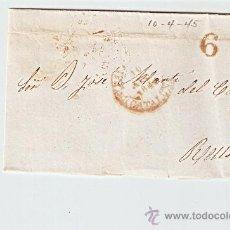 Sellos: ENVUELTA DE CARTA REUS 1845. Lote 27435512