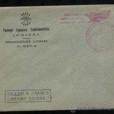 Sellos: FALANGE ESPAÑOLA. ORGANIZACIONES JUVENILES DE ALMERIA Y FRANQUICIA DE ALHABIA (ALMERIA).. Lote 10850328